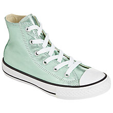 Buy Converse Children's Chuck Taylor All Star Metallic Hi Top Trainers, Glacier Online at johnlewis.com