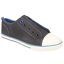 Buy John Lewis Children's Finlay Double Velcro Trainers, Grey Online at johnlewis.com