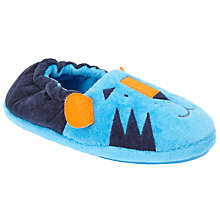 Buy John Lewis Children's Closed Back Tiger Slippers, Blue Online at johnlewis.com