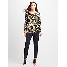 Buy Weekend MaxMara Entrata Leopard Print Top, Tobacco Online at johnlewis.com