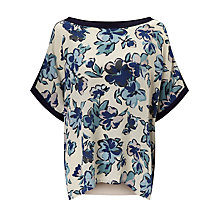 Buy Weekend MaxMara Fresis Floral Print Top, Ivory Online at johnlewis.com