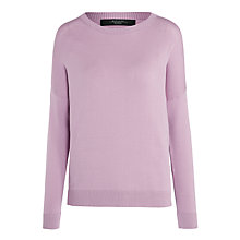 Buy Weekend MaxMara Hidesia Relaxed Jumper, Lilac Online at johnlewis.com
