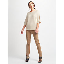 Buy Weekend MaxMara Perla Ribbed Jumper, Ivory Online at johnlewis.com