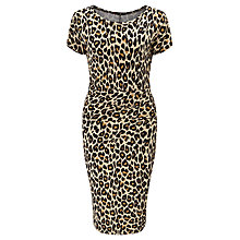 Buy Weekend MaxMara Epsilon Leopard Print Jersey Dress, Tobacco Online at johnlewis.com