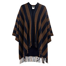 Buy Weekend MaxMara Giunto Double Faced Stripe Poncho, Navy Online at johnlewis.com