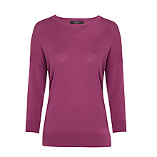 Buy Weekend MaxMara Garza V-Neck Jumper, Cyclamen Online at johnlewis.com