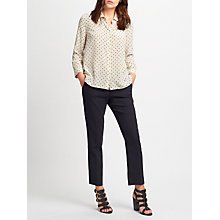 Buy Weekend MaxMara Marica Printed Silk Shirt, Tobacco Online at johnlewis.com