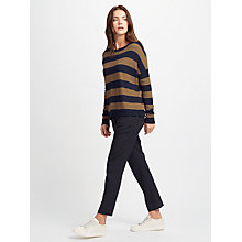 Buy Weekend MaxMara Hidesia Stripe Jumper, Tobacco/Navy Online at johnlewis.com
