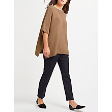 Buy Weekend MaxMara Poggio Ribbed Wool Jumper, Camel Online at johnlewis.com