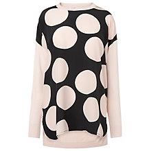Buy L.K. Bennett Pru Tunic Top, Black/Cream Online at johnlewis.com