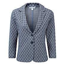 Buy Pure Collection Mila Jacquard Jersey Blazer,  Navy Jacquard Online at johnlewis.com