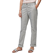 Buy Jigsaw Hampton Ticking Stripe Jeans, Ecru Online at johnlewis.com