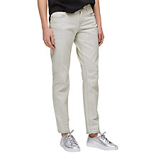 Buy Jigsaw Hampton Weft Jeans, Grey Online at johnlewis.com