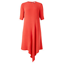 Buy Jigsaw Asymmetric Dress, Coral Online at johnlewis.com
