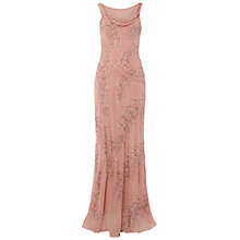 Buy Raishma Draped Back Maxi Gown, Rose Online at johnlewis.com