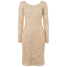 Buy Raishma Sequin Dress, Gold Online at johnlewis.com