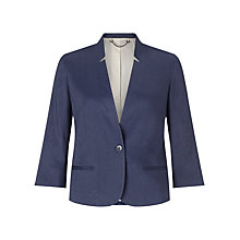 Buy Jigsaw Cropped Jacket, Navy Online at johnlewis.com