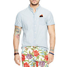 Buy Denim & Supply Ralph Lauren Short Sleeve Denim Shirt, Light Blue Online at johnlewis.com