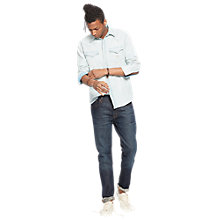 Buy Denim & Supply Ralph Lauren Tapered Straight Jeans, Blue Online at johnlewis.com