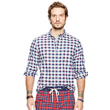 Buy Denim & Supply by Ralph Lauren Check Sport Shirt, Blue/Red Online at johnlewis.com