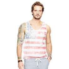 Buy Denim & Supply Ralph Lauren USA Flag Vest, Paradise Leaf Online at johnlewis.com