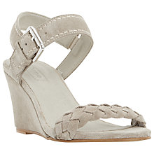 Buy Dune Keaton Wedge Heeled Sandals, Grey Online at johnlewis.com
