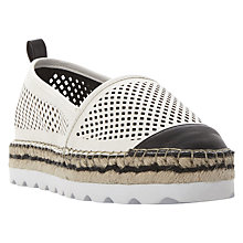Buy Dune Georgina Flatform Espadrilles, White Online at johnlewis.com