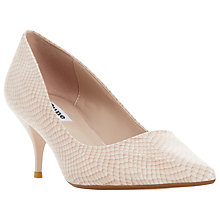 Buy Dune Allera Mid Heeled Stiletto Court Shoes, Blush Online at johnlewis.com