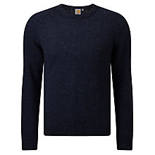 Buy Carhartt WIP Anglistic Knit Jumper, Navy Heather Online at johnlewis.com