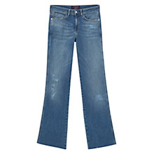Buy Violeta by Mango Flared Melina Jeans, Open Blue Online at johnlewis.com