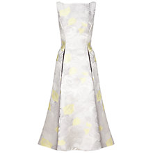Buy Adrianna Papell Sleeveless Tea Length Dress, Silver Online at johnlewis.com