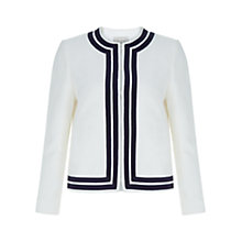 Buy Hobbs Harbour Jacket, White/Navy Online at johnlewis.com