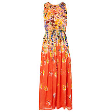 Buy L.K. Bennett Silk Thea Printed Dress, Vermillion Online at johnlewis.com