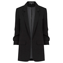 Buy Warehouse Crepe Blazer, Black Online at johnlewis.com