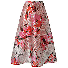 Buy L.K. Bennett Prula Graphic Floral Skirt, Peach Online at johnlewis.com