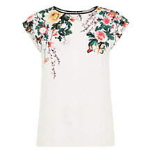 Buy Oasis Botany And Butterfly Print T-Shirt, Multi Online at johnlewis.com