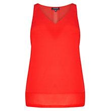 Buy Warehouse Chiffon Detail Vest Top, Light Red Online at johnlewis.com