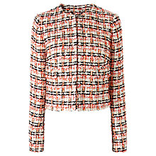 Buy L.K. Bennett Echo Tweed Jacket, Orange Online at johnlewis.com