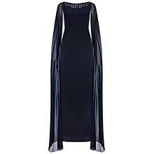 Buy Adrianna Papell Cape Dress With Beaded Neckline, Ink Online at johnlewis.com