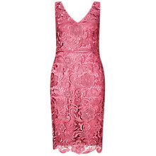 Buy Adrianna Papell V-Neck Guipure Lace Dress, Rouge Online at johnlewis.com