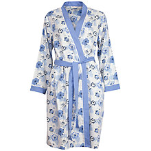 Buy Cyberjammies Porcelain Doll Floral Print Robe, Blue/Multi Online at johnlewis.com