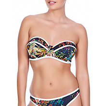 Buy Freya Club Tropicana Bandeau Bikini Top, Midnight Online at johnlewis.com