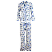 Buy Cyberjammies Porcelain Doll Floral Pyjama Set, Blue/Multi Online at johnlewis.com