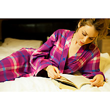 Buy Cyberjammies Magenta Madness Checked Lightly Brushed Long Robe, Pink/Multi Online at johnlewis.com