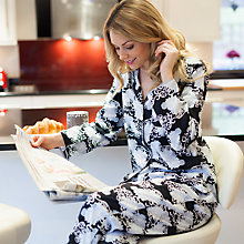 Buy Cyberjammies Timeless Elegance Floral Print Pyjama Set, Black/Multi Online at johnlewis.com