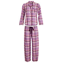 Buy Cyberjammies Purple Haze Checked Pyjamas, Lilac Online at johnlewis.com