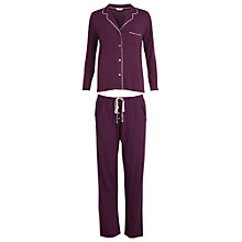 Buy Cyberjammies Purple Haze Revere Collar Pyjama Set, Lilac Online at johnlewis.com