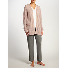 Buy John Lewis Fluffy Knitted Cardigan, Beige Pink Online at johnlewis.com