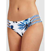 Buy Seafolly Tropic Coast Strap Hipster Bikini Briefs, White/Blue Online at johnlewis.com