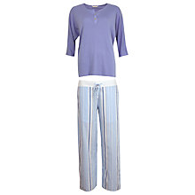 Buy Cyberjammies Porcelain Doll Stripe Pyjama Set, Blue/Multi Online at johnlewis.com